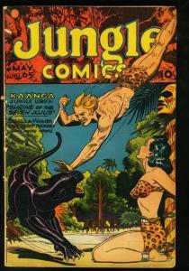 JUNGLE COMICS #65 FICTION HOUSE-BAKER ART-1945 SPICY VG