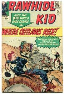 Rawhide Kid #43 1964- Marvel Western- missing ad page