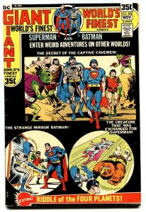 WORLDS FINEST #206 comic book 1971 DC COMICS-Batman Superman