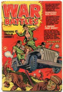 WAR BATTLES #2 1952 -PRE-CODE KOREAN WAR VIOLENCE POWELL VG