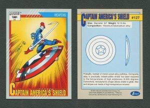 1991 Marvel Comics II  Card  #127 ( Captain America's Shield )  MINT