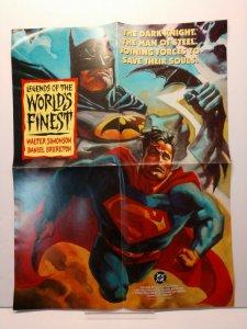 Rare! Worlds Finest 1993 Batman Superman Walt Simonson Brereton DC PROMO Poster