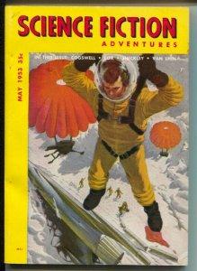 Science Fiction Adventures #5 5/1953-Future-pulp thrills-Eric Van Lhin-Sheckley-