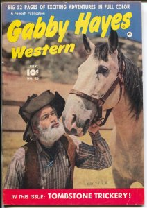 Gabby Hayes Western #20 1950--Fawcett-photo cover-FN/VF