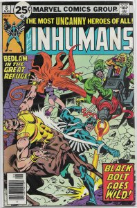 Inhumans (vol. 1, 1975) # 6 VG/FN Moench/Kane, Buckler cover, Maximus