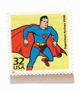 Superman Arrives 1998 Single stamp, Mint