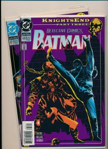 DC Lot of 2-DETECTIVE COMICS KnightsEnd Part 3#676 & Part 9#677 VF/NM  (PF777)