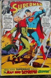 Superman #205(DC,1968) Condition GD/VG