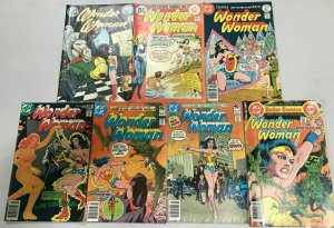 WONDER WOMAN#208-269 VG-VF LOT (7 BOOKS) 1973 DC BRONZE AGE COMICS