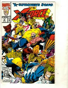12 X-Force Marvel Comics # 16 18 20 21 22 24 25 26 27 28 30 35 EK4