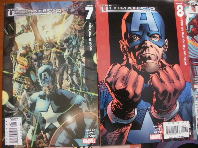 5 Marvel Comic:THE ULTIMATES 2 #7 #8 #9 #10 #11 (2005) Captain America Iron Man