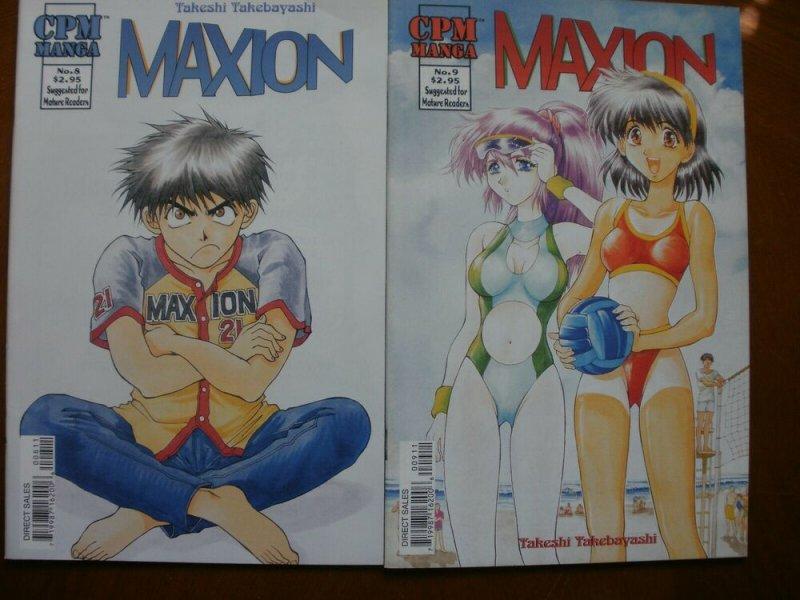 2 Near-Mint CPM Manga MAXION #8 #9 (2000) Takebayashi (Mature Reader) Art