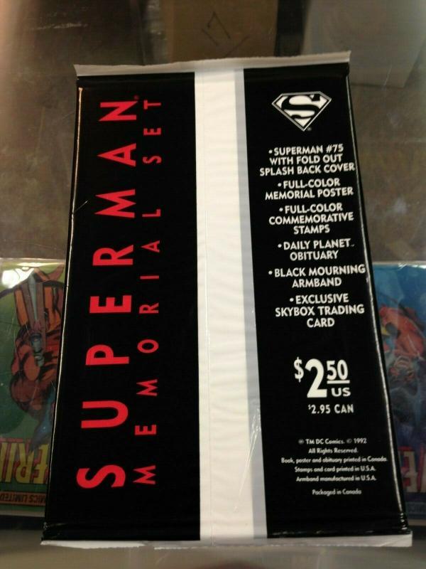 Superman 75 Death of Superman sealed Black Bag edition