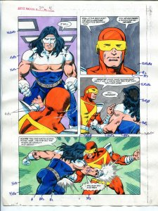 Justice Machine #24 Page #11 1988 Original Color Guide