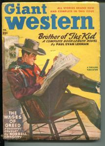 Giant Western-2/1950-Thrilling-includes mailing envelope-western pulp action-VG