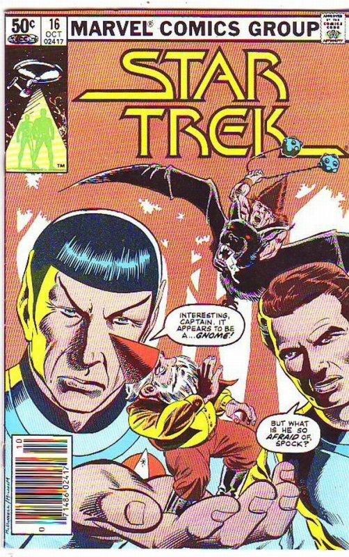Star Trek #16 (Oct-85) VF/NM High-Grade Captain Kirk, Mr Spock, Bones, Scotty