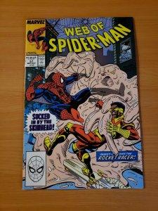 Web of Spider-Man #57 Direct Market Edition ~ NEAR MINT NM ~ (1989 Marvel)