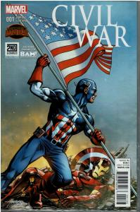 Civil War #001, NM, BAM Variant Exclusive (2)