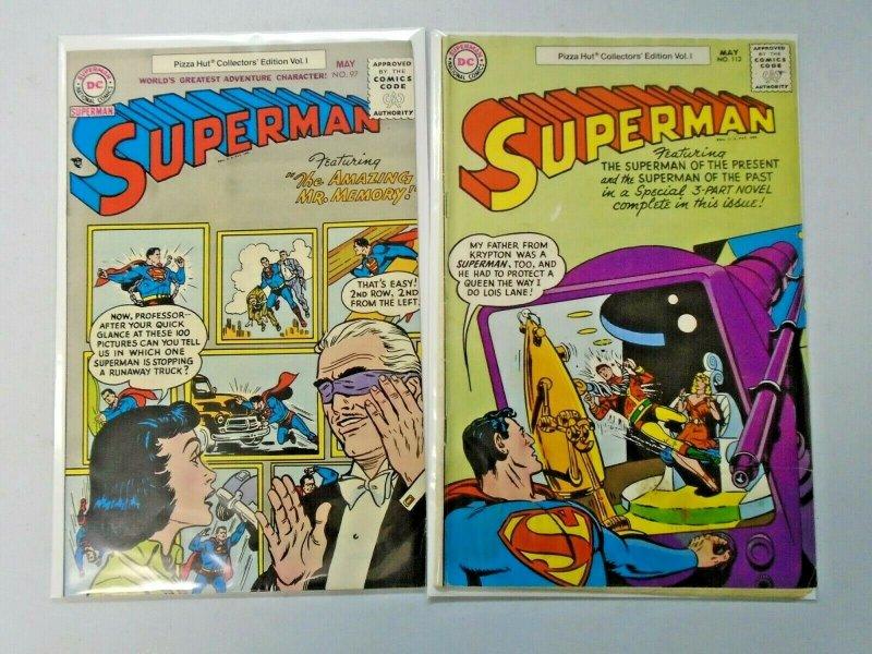 Superman Pizza Hut Collectors Edition #97 and #113 Average 5.0 (1977)