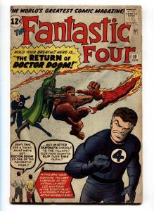 Fantastic Four-#10 comic book-1962-Doctor Doom-Jack Kirby - Marvel VG