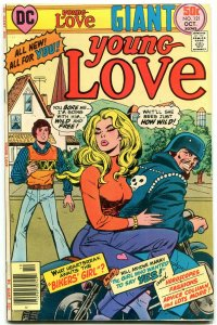 YOUNG LOVE #121 1976- Bikers Girl- Motorcycle cover- DC Romance Giant VF