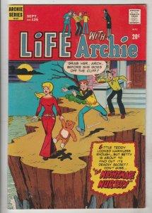Life with Archie #125 (Sep-72) VF/NM High-Grade Archie, Jughead, Betty, Veron...