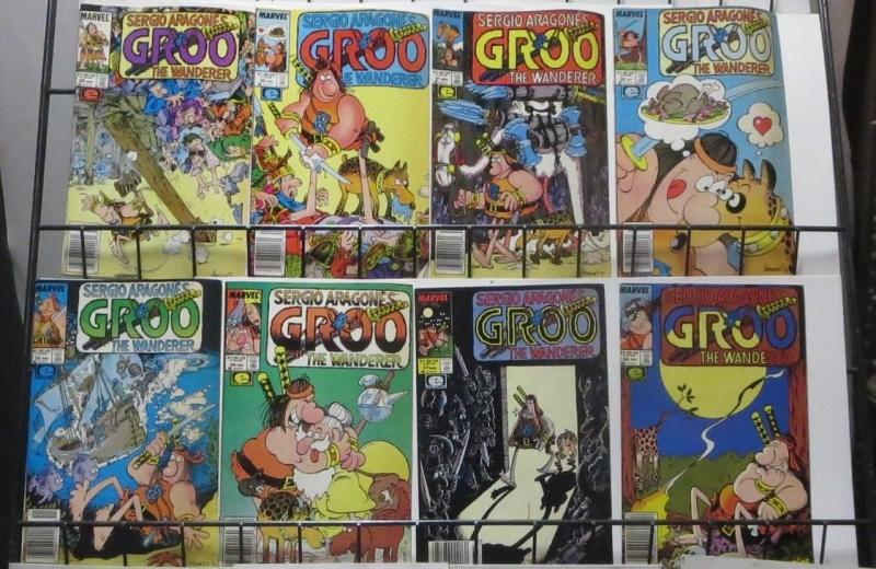 GROO THE WANDERER (1984) #13-34,37-40 VG-F+! Sergio Aragones,Evanier NEWSTAND ED