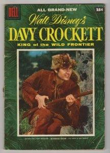 WALT DISNEY'S DAVY CROCKETT King of the Wild Frontier #1 1955 FESS PARKER COVER