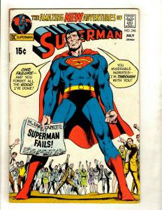 Superman # 240 FN DC Comic Book Batman Flash Wonder Woman Green Arrow Atom GK5