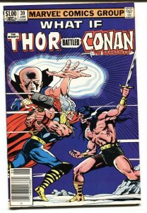 What If #39 THOR BATTLED CONAN Marvel  1983 VF