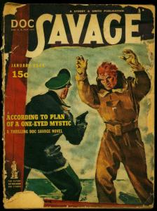 Doc Savage Pulp January 1944- According to Plan of a One-Eyed Mystic FR/G