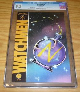 Watchmen #9 CGC 9.2 alan moore - dave gibbons - origin of silk spectre 1987