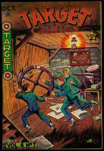 TARGET COMICS V.6 #7 1945-CHAMELEON-TARGETEERS-NICE ART FN