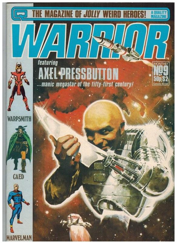 WARRIOR (1982 QUALITY) 9 VG-F Jan. 1983 ALAN MOORE+++++