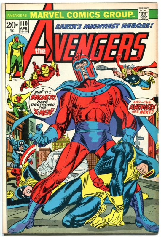AVENGERS #110, VF, Magneto, Thor, Iron Man,Captain America, 1963, more in store