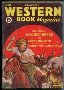 COMPLETE WESTERN pulp 12/1934-RED CIRCLE-BORDER BREED-HOLLMER-GIRL ART COVER-vg