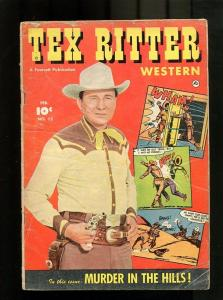 TEX RITTER 15-1952-FEBRUARY-MUDER IN THE HILLS VG