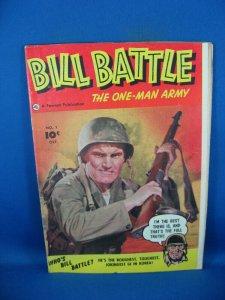 BILL BATTLE 1 VG F FIRST ISSUE PHOTO CVR 1952