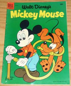 Walt Disney's Mickey Mouse #41 FN april-may 1955 - golden age dell comics  pluto