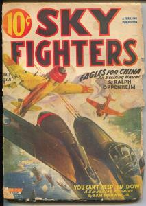 Sky Fighters-Fall 1944-WWII pulp mag-air war cover-G-