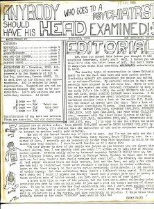 IAWGTSAPSHHHE #3 1968-newsletter format-Don Dagenais-Marvel-VG