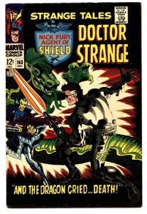 STRANGE TALES #163 comic book 1967-NICK FURY-DR STRANGE-STERANKO