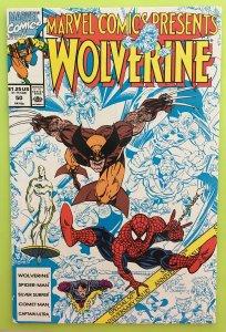 MARVEL COMICS PRESENTS 50 WOLVERINE SPIDER-MAN 1990