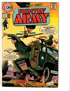 Lot Of 7 Fightin' Army Charlton Comic Books # 114 117 118 120 143 165 167 TP5