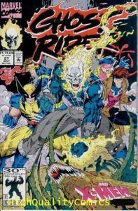 GHOST RIDER #27, NM+, X-men, Jim Lee, Motorcycle, 1990, more Marvel in store