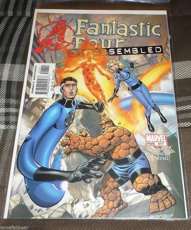 FANTASTIC FOUR #517   2004 marvel  avengers disassemnled