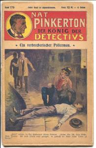 Nat Pinkerton King of Detectives #179 1920's-German edition-rare-G