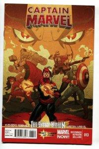 Captain Marvel #13 2013 1st MOHAWK HELMET cover