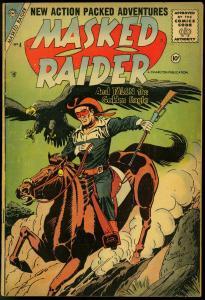 Masked Raider #4 1956- Charlton Western- Origin of White Star VG