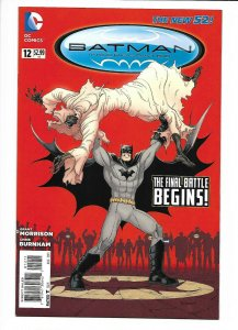 Batman Incorporated #12 DC New 52 NM 9.4+  (2013) Chris Burnham cover.